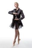 Χορευτής με ένα γυαλί ώρας στοκ εικόνες