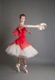 Χορευτής με ένα ντέφι Στοκ Εικόνα