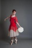 Χορευτής με ένα ντέφι Στοκ Εικόνες