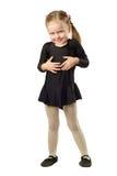 Χορευτής μικρών κοριτσιών που απομονώνεται στο άσπρο υπόβαθρο Στοκ Φωτογραφίες