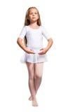 χορευτής μπαλέτου λίγα άσπρα Στοκ εικόνα με δικαίωμα ελεύθερης χρήσης