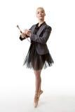 Χορευτής μπαλέτου έτοιμος να εργαστεί Στοκ Εικόνες
