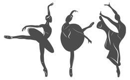 Χορευτής μπαλέτου, χορεύοντας γυναίκα σε ένα φόρεμα Στοκ Εικόνες