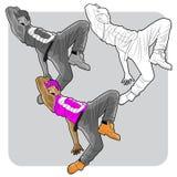 Χορευτής οδών στοκ φωτογραφίες με δικαίωμα ελεύθερης χρήσης