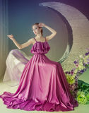 Χορευτής σε ένα όμορφο φόρεμα Στοκ Εικόνα