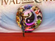 Χορευτής στο φεστιβάλ της Ανατολής στη Ρώμη Ιταλία Στοκ Εικόνες