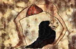 Χορευτής της αρχαίας Αιγύπτου Στοκ Εικόνες