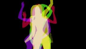 Χορευτής Disco που γίνεται σε μια σκιαγραφία σκιών ελεύθερη απεικόνιση δικαιώματος