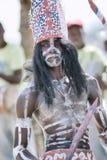 Χορευτής Los Tainos σε Samana, Δομινικανή Δημοκρατία στοκ φωτογραφία