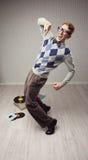 Χορευτής Nerd Στοκ φωτογραφίες με δικαίωμα ελεύθερης χρήσης
