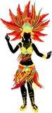 Χορευτής Samba διανυσματική απεικόνιση