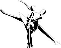 χορευτικό βήμα de deux απεικόνιση αποθεμάτων