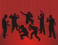 χορεύοντας βιαστές Στοκ εικόνα με δικαίωμα ελεύθερης χρήσης