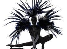 χορεύοντας γυναίκα περιοδικών χορευτών showgirl Στοκ Εικόνες