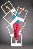 χορεύοντας γυναίκα φωτ&omicro Στοκ Εικόνα