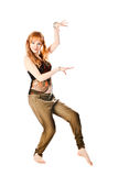 Χορεύοντας γυναίκα Στοκ εικόνα με δικαίωμα ελεύθερης χρήσης