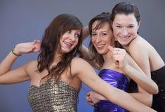 χορεύοντας γυναίκες disco Στοκ Φωτογραφία