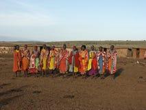 χορεύοντας γυναίκες maasai Στοκ Εικόνα