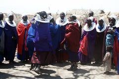 Χορεύοντας γυναίκες masai Στοκ φωτογραφία με δικαίωμα ελεύθερης χρήσης