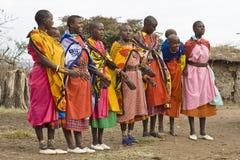 χορεύοντας γυναίκες masai Στοκ φωτογραφίες με δικαίωμα ελεύθερης χρήσης