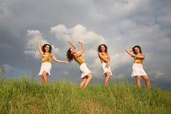 χορεύοντας δίδυμα Στοκ Εικόνες