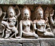 Χορεύοντας διακόσμηση Apsara Angkor, Καμπότζη Στοκ Εικόνα