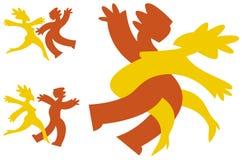 χορεύοντας εικονίδια Στοκ εικόνες με δικαίωμα ελεύθερης χρήσης