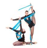 χορεύοντας εύκαμπτοι gymnasts στοκ εικόνες με δικαίωμα ελεύθερης χρήσης