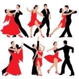 Χορεύοντας ζεύγη Στοκ εικόνες με δικαίωμα ελεύθερης χρήσης