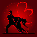 Χορεύοντας ζεύγος Στοκ εικόνες με δικαίωμα ελεύθερης χρήσης