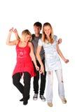 χορεύοντας κορίτσια δύο αγοριών Στοκ φωτογραφία με δικαίωμα ελεύθερης χρήσης