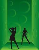 χορεύοντας κορίτσια Στοκ εικόνα με δικαίωμα ελεύθερης χρήσης