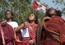 χορεύοντας κορίτσια somalian στοκ φωτογραφία