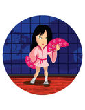 Χορεύοντας κορίτσι της Ιαπωνίας Στοκ φωτογραφία με δικαίωμα ελεύθερης χρήσης