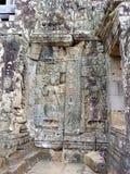 Χορεύοντας κορίτσι Apsara που χαράζεται στον τοίχο του ναού σε Cambodi Στοκ φωτογραφίες με δικαίωμα ελεύθερης χρήσης