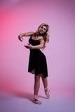 Χορεύοντας κορίτσι ballerina Στοκ Εικόνα