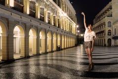 χορεύοντας κυρία Στοκ εικόνες με δικαίωμα ελεύθερης χρήσης