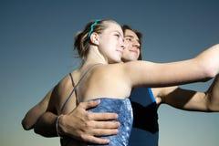 χορεύοντας νεολαίες ε&n στοκ εικόνες