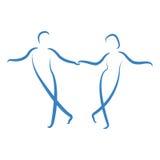 Χορεύοντας λογότυπο ζευγών Στοκ Εικόνες
