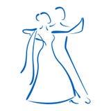 Χορεύοντας λογότυπο ζευγών Στοκ Φωτογραφίες