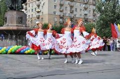 χορεύοντας ομάδα λαογραφίας Στοκ Φωτογραφία