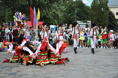 χορεύοντας ομάδα λαογραφίας Στοκ φωτογραφία με δικαίωμα ελεύθερης χρήσης