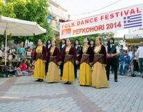 Χορεύοντας ομάδα Στοκ Φωτογραφία