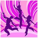 χορεύοντας ουράνια τόξα ανθρώπων διανυσματική απεικόνιση