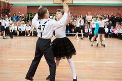 Χορεύοντας παιδιά αιθουσών χορού Στοκ Φωτογραφίες