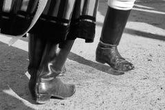 Χορεύοντας πόδια - μονοχρωματικά Στοκ εικόνες με δικαίωμα ελεύθερης χρήσης