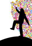 χορεύοντας σκιαγραφία απεικόνιση αποθεμάτων
