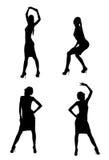 χορεύοντας σκιαγραφίες Στοκ Εικόνες