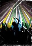 χορεύοντας σκιαγραφίε&sigma Στοκ εικόνα με δικαίωμα ελεύθερης χρήσης