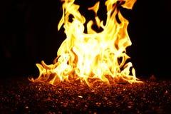 χορεύοντας φλόγες Στοκ εικόνες με δικαίωμα ελεύθερης χρήσης